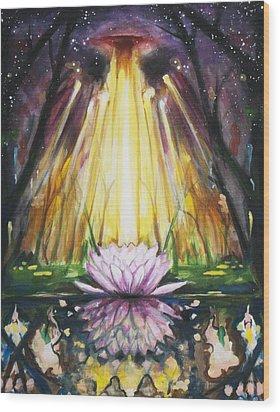 Lotus Omega Wood Print by Christine  Webb
