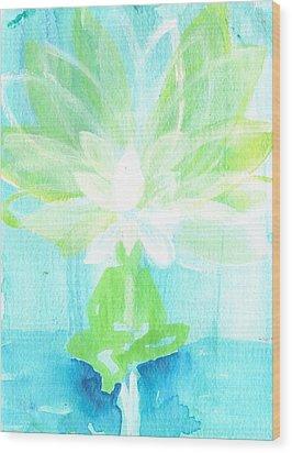 Lotus Petals Awakening Spirit Wood Print by Ashleigh Dyan Bayer