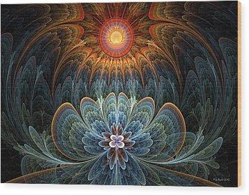 Lotus Rising Wood Print by Kim Redd
