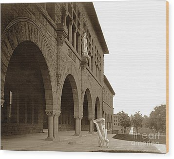 Louis Agassiz In The Concrete Most Famous Image Associated With Stanford University 1906 Earthquake Wood Print by California Views Mr Pat Hathaway Archives