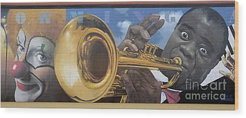 Louis Armstrong Wood Print by Bob Christopher
