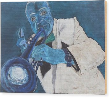 Louis In Blue Wood Print by Katie Spicuzza