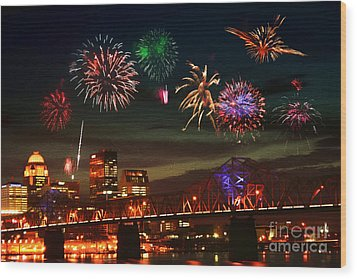 Louisville Kentucky Celebration Wood Print
