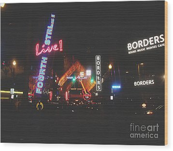 Louisville Kentucky Misty Nights Wood Print