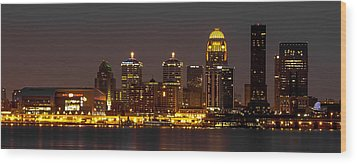 Louisville Skyline Wood Print