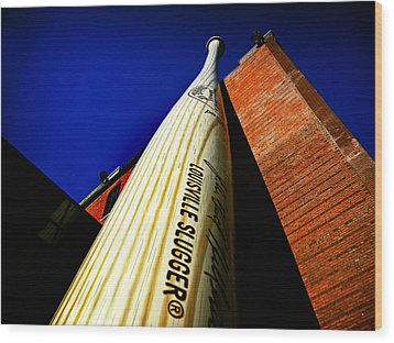 Louisville Slugger Bat Factory Museum Wood Print by Bill Swartwout