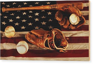 Louisville Slugger Wood Print by Dan Sproul