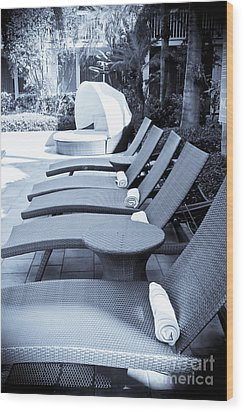 Lounge Chairs Wood Print by Sophie Vigneault