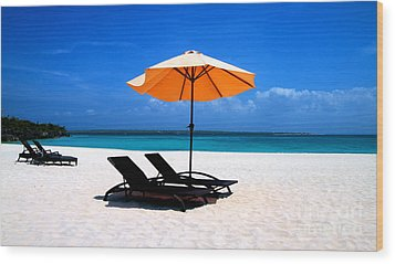 Wood Print featuring the photograph Lounging By The Sea by Joey Agbayani