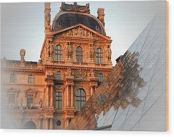Wood Print featuring the photograph Louvre And Pei by Jacqueline M Lewis