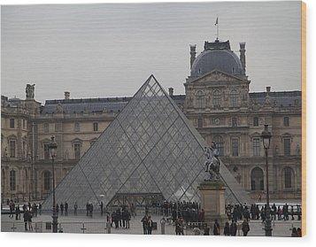 Louvre - Paris France - 011314 Wood Print by DC Photographer