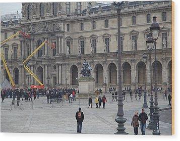 Louvre - Paris France - 011324 Wood Print by DC Photographer
