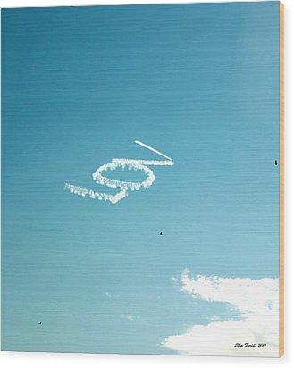 Lov In The Air  Wood Print