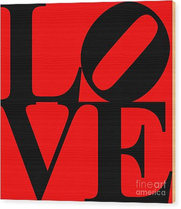 Love 20130707 Black Red Wood Print by Wingsdomain Art and Photography
