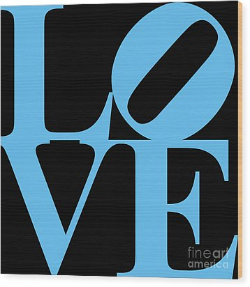 Love 20130707 Blue Black Wood Print by Wingsdomain Art and Photography
