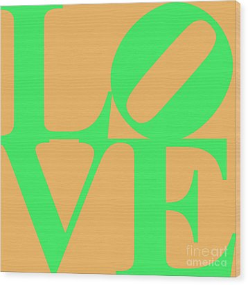 Love 20130707 Green Orange Wood Print by Wingsdomain Art and Photography