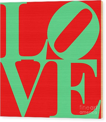 Love 20130707 Green Red Wood Print by Wingsdomain Art and Photography