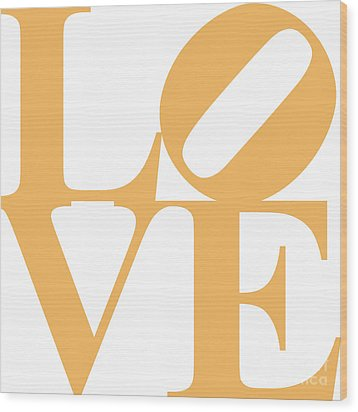 Love 20130707 Orange White Wood Print by Wingsdomain Art and Photography