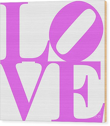Love 20130707 Violet White Wood Print by Wingsdomain Art and Photography