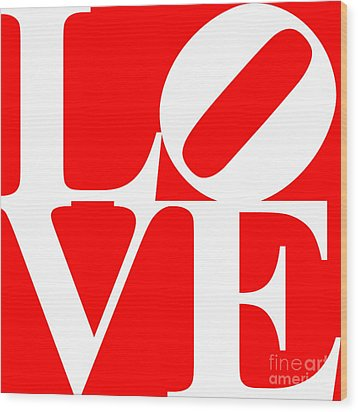 Love 20130707 White Red Wood Print by Wingsdomain Art and Photography