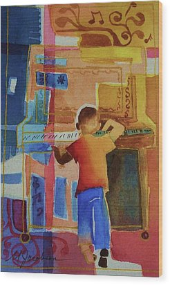 Love A Piano 1 Wood Print by Marilyn Jacobson