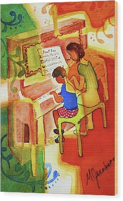 Love A Piano 2 Wood Print by Marilyn Jacobson