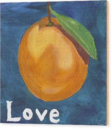 Love Wood Print by Amber Joy Eifler