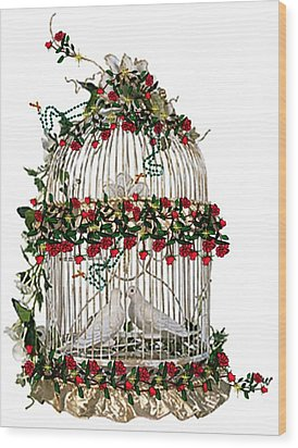 Love And Roses Wood Print by Mary Anne Ritchie