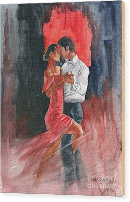 Love And Tango Wood Print