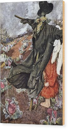 Love And The Scarecrow Wood Print by Eleanor Fortescue Brickdale
