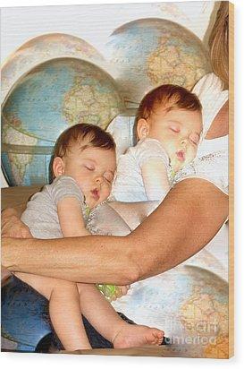 Love Around The World Wood Print by Phyllis Kaltenbach