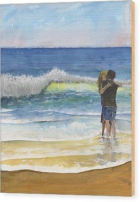 Love Aroused Of Aphros Wood Print