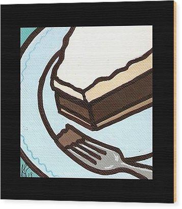Love At First Bite Chocolate Cream Pie Wood Print by Jim Harris
