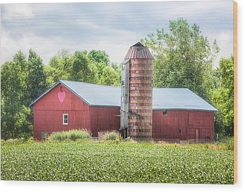 Wood Print featuring the photograph Love Barn by Gary Heller