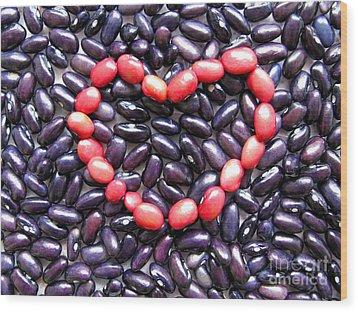 Love Beans #01 Wood Print by Ausra Huntington nee Paulauskaite