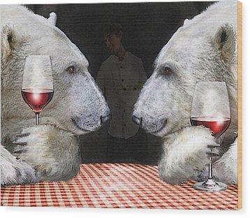 Love Bears All Things Wood Print by Jane Schnetlage