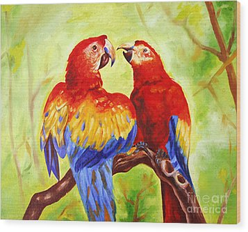 Love Birds  Wood Print by Ragunath Venkatraman