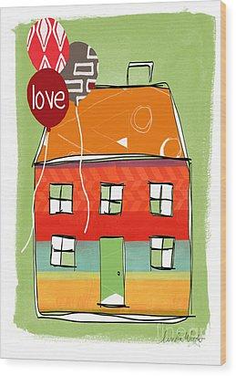 Love Card Wood Print by Linda Woods