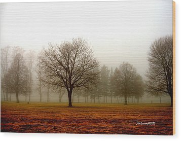 Love Foggy Mornings Wood Print