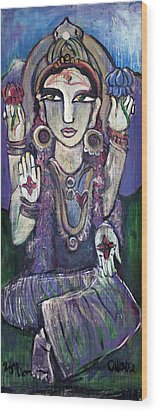 Love For Parvati Wood Print by Laurie Maves ART