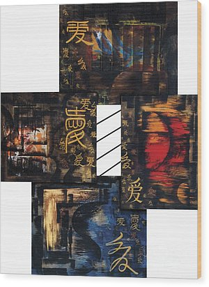 Wood Print featuring the painting Love Four Seasons by Fei A