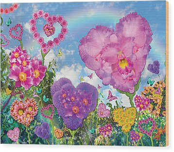 Love Garden Wood Print by Alixandra Mullins