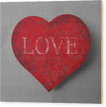 Love Heart 1 Wood Print