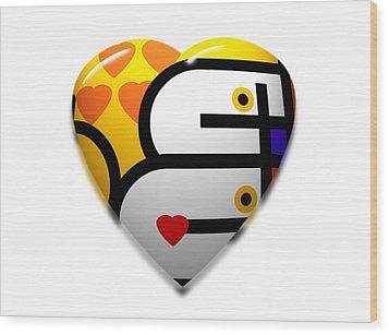 Love Heart Pop Wood Print