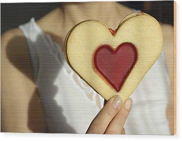 Love Heart Valentine Wood Print by Matthias Hauser