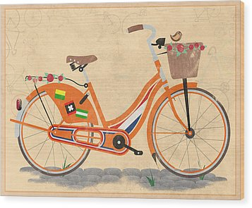 Love Holland Love Bike Wood Print by Andy Scullion