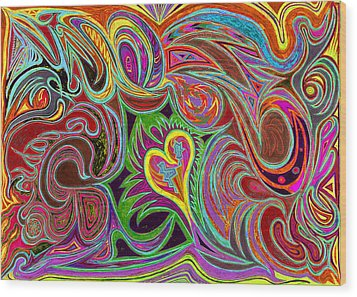 love in every shade of U v7 - love in every shade of blue Wood Print
