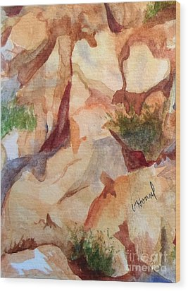 Love In The Rocks Medjugorje 2 Wood Print