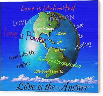 Wood Print featuring the digital art Love Is. . . . by Bobbee Rickard