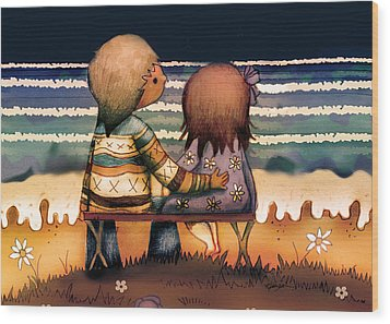 Love Is A Way Of Living Wood Print by Karin Taylor